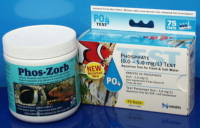 Phosphate adsorbing resin and test kit